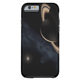 Saturn planet in solar system, close-up tough iPhone 6 case