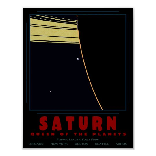 SATURN, Queen of the Planets Poster