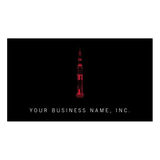 Saturn Rocket Business Card Template