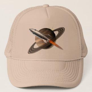 Saturn Rocket Ship Cap