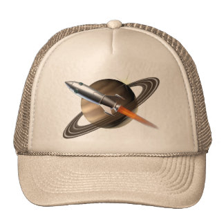 Saturn Rocket Ship Cap