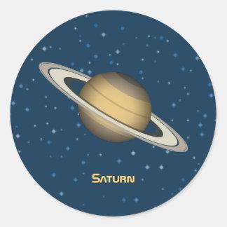 Saturn Round Sticker