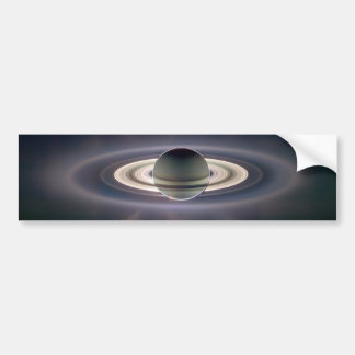 Saturn Solar Eclips Bumper Sticker