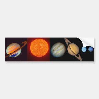 SATURN sun moons Bumper Sticker