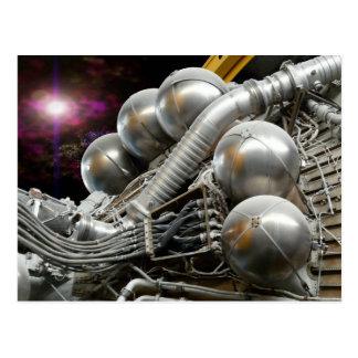 Saturn V Rocket Engine postcard