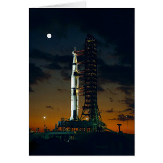 Saturn V Rocket on the launch pad Card