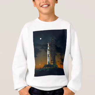 Saturn V rocket on the launch pad Sweatshirt