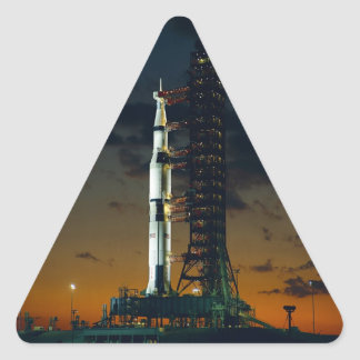 Saturn V rocket Triangle Sticker