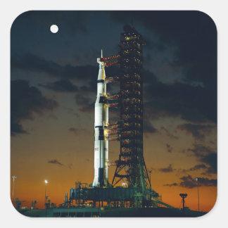 Saturn V rocket Square Sticker