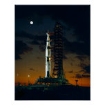 Saturn V Space Rocket Launch Poster