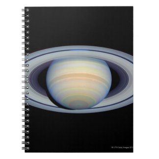 Saturn with rings at widest angle to Earth Notebook