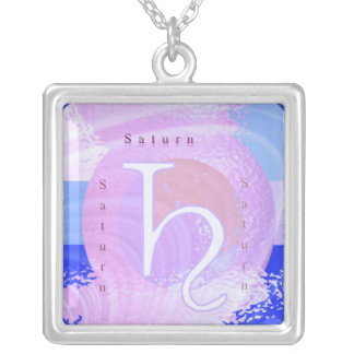 Saturn Zodiac Symbol Necklaces