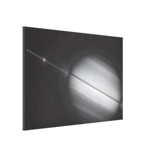 Saturn's Rings Edge-on Canvas Prints