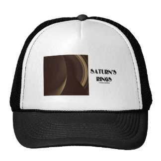 Saturn's Rings (Photo Of Saturn Rings) Mesh Hat