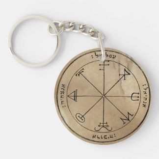 Saturn's Spirit Summoning Sigils Double-Sided Round Acrylic Key Ring