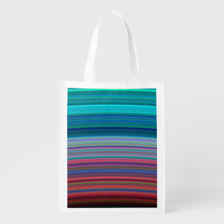 Saturn's Ultra-Violet Rings Reusable Grocery Bag