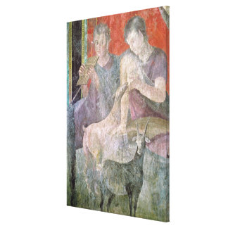 Satyr and Nymph Canvas Print