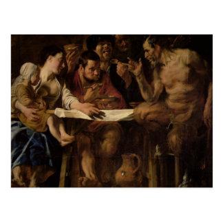 Satyr and Peasant, 1620 Postcard
