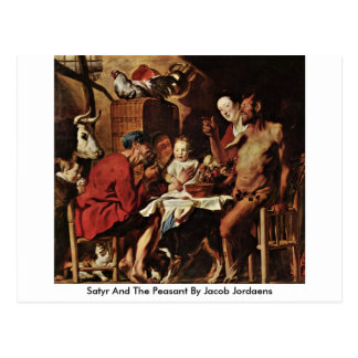 Satyr And The Peasant By Jacob Jordaens Postcards