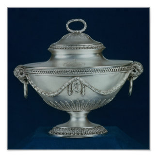 Sauce-tureen, One of a pair Poster
