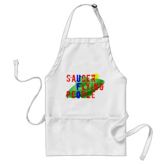 Saucer Flying People Standard Apron