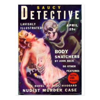 Saucy Detective Postcard