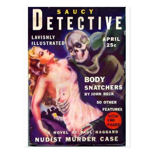 Saucy Detective Postcards