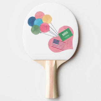 saudi-american ping-pong paddle