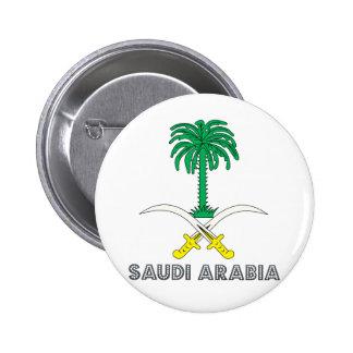 Saudi Arabia Coat of Arms 6 Cm Round Badge