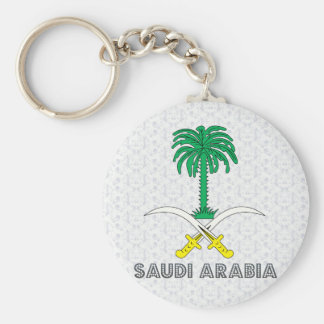 Saudi Arabia Coat of Arms Basic Round Button Key Ring