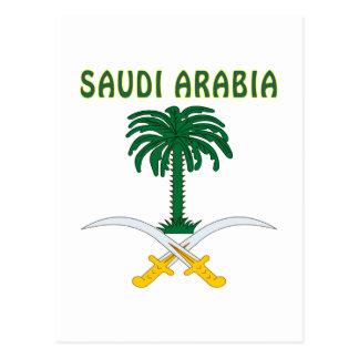 SAUDI ARABIA Coat Of Arms Postcard
