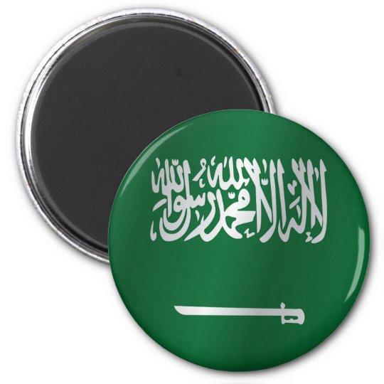Saudi Arabia flag 6 Cm Round Magnet