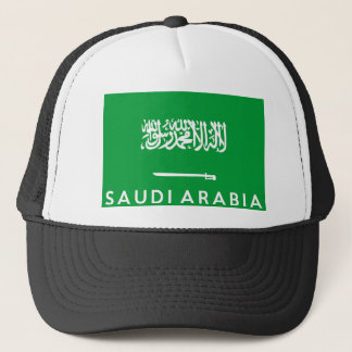 saudi arabia flag country text name trucker hat