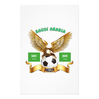 Saudi Arabia Football Designs Customised Stationery