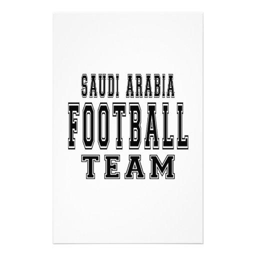 Saudi Arabia Football Team Stationery Design