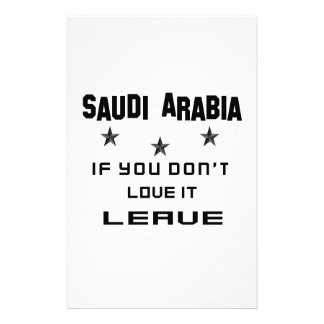 Saudi Arabia If you don't love it, Leave Stationery Design