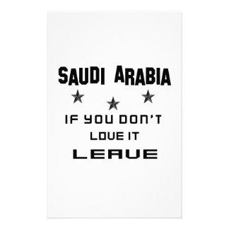 Saudi Arabia If you don't love it, Leave Stationery Design