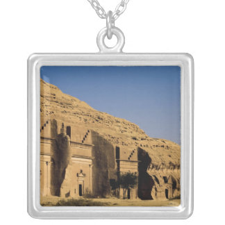 Saudi Arabia, site of Madain Saleh, ancient 2 Silver Plated Necklace