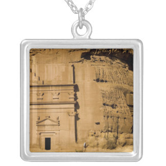 Saudi Arabia, site of Madain Saleh, ancient 3 Silver Plated Necklace
