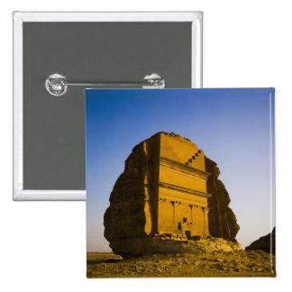 Saudi Arabia, site of Madain Saleh, ancient 4 15 Cm Square Badge
