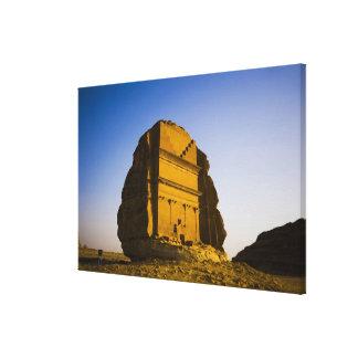Saudi Arabia, site of Madain Saleh, ancient 4 Canvas Print