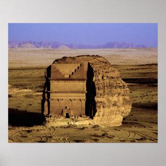 Saudi Arabia, site of Madain Saleh, ancient Poster