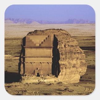 Saudi Arabia, site of Madain Saleh, ancient Square Sticker