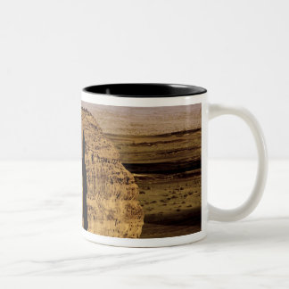 Saudi Arabia, site of Madain Saleh, ancient Two-Tone Coffee Mug