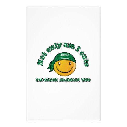 Saudi Arabia smiley flag designs Stationery