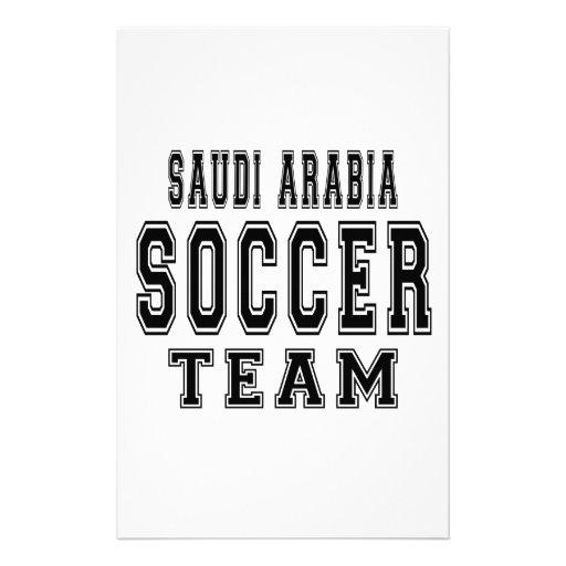 Saudi Arabia Soccer Team Personalized Stationery