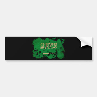 Saudi Arabia textured splatter copy Bumper Sticker