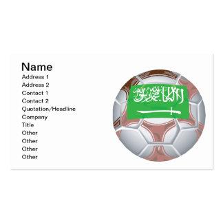 Saudi Arabian Soccer Ball Pack Of Standard Business Cards