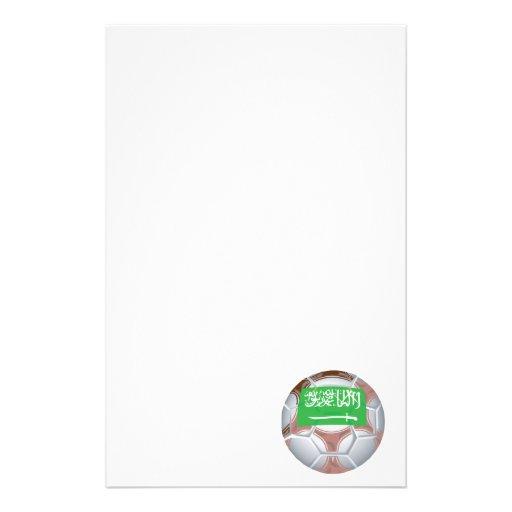 Saudi Arabian Soccer Ball Stationery