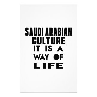 SAUDI ARABIANCULTURE IT IS A WAY OF LIFE PERSONALISED STATIONERY